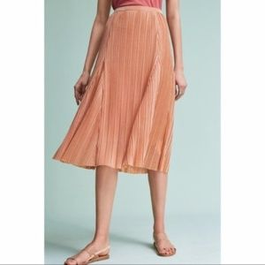 Anthropologie Maeve Ambra Pleated A-line Skirt